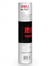 得力 7727 热敏传真纸 210mm*30y 6卷/件