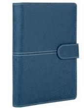 广博(GuangBo)8.5寸100页活页皮面本黑色/ 蓝色 GBP8605