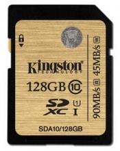 金士顿(Kingston)读速90MB/s 128GB UHS-I Class10 SD高速存储卡 土豪金