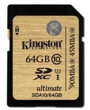 金士顿(Kingston)读速90MB/s 64GB UHS-I Class10 SD高速存储卡 土豪金