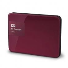 西部数据(WD)My Passport Ultra 升级版 2TB 2.5英寸 野莓红 移动硬盘 WDBBKD0020BBY