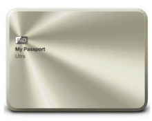西部数据(WD)My Passport Ultra周年纪念版USB3.0 1TB 超便携移动硬盘 (金色)WDBTYH0010BCG
