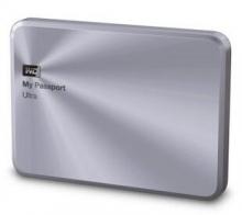 西部数据(WD)My Passport Ultra 金属版USB3.0 1TB 超便携移动硬盘 (银色)WDBTYH0010BSL