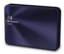 西部数据(WD)My Passport Ultra 金属版USB3.0 1TB 超便携移动硬盘 (宝石蓝)WDBTYH0010BBA