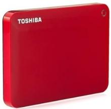 东芝 TOSHIBA V8 CANVIO高端分享系列2.5英寸移动硬盘 USB3.0_活力红_2T
