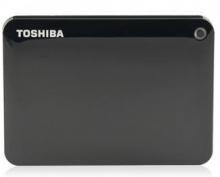 东芝 TOSHIBA V8 CANVIO高端分享系列2.5英寸移动硬盘 USB3.0_经典黑_2T
