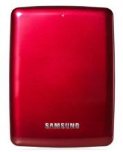 三星 SAMSUNG 高端时尚款 S3系列 2.5英寸超高速USB3.0移动硬盘 红色 2TB CV-HXMTD20E2C4