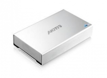 艾客优品 AKITIO 超级钛极光 3.5英寸ESATA+火线1394B+USB3.0外置硬盘盒_银色_其他