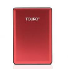 HGST 0S03780 TOURO S 7200转 移动硬盘 _高端金属版(红)_1T