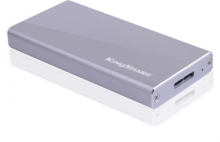 金胜 KINGSHARE S300系列 USB3.0 MINI固态移动硬盘 KSMM3064_高端金属版(银)_64GB