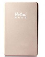 朗科 NETAC 2.5英寸 K206 时尚超薄移动硬盘 USB3.0 _阳光金_500G