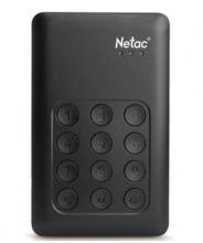 朗科 NETAC K390 按键加密式移动硬盘USB3.0_黑色_500G