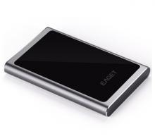 忆捷 EAGET G90 时尚超薄硬加密全金属 USB3.0高速移动硬盘_黑色_1T