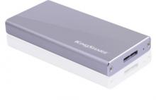 金胜 KINGSHARE B100系列USB3.0 MINI固态移动硬盘 KSMN2128M_高端金属版(银)_128G