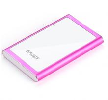 忆捷 EAGET G90 时尚超薄硬加密全金属 USB3.0高速移动硬盘_粉色_500G加密