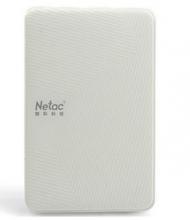朗科 NETAC 小白 USB3.0 加密升级版2.5英寸时尚型移动硬盘_白色_640G