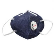 霍尼韦尔(Honeywell) 口罩 KN95 靓呼吸 防尘 耳带式带阀牛仔蓝 男女骑行 D7051V-DB1 (5只装)