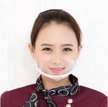 餐饮酒店饭馆服务员厨师卫生透明微笑口罩