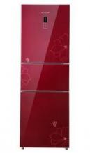 容声(Ronshen)BCD-211YMB/DS 211升 三门冰箱电脑控温(蝶恋花玻璃)