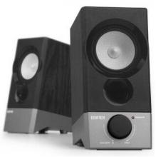 漫步者(EDIFIER)R19U 木质纯音2.0迷你桌面音响 黑色