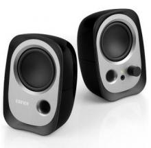漫步者(EDIFIER)R12U 外观时尚、音质纯正的入门级微型2.0桌面音响 笔记本音箱 黑色