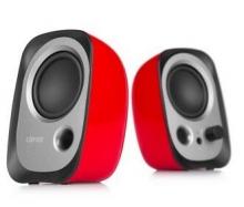 漫步者(EDIFIER)R12U 外观时尚、音质纯正的入门级微型2.0桌面音响  红色
