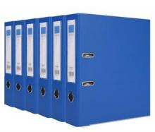 得力(deli)33180 加厚型欧式快劳夹/文件夹 A4 3寸6个特惠装 蓝色