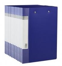 得力(deli) 5364 ABA系列A4双强力夹文件夹 蓝色 12只装