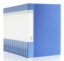 得力(deli) 5363 ABA系列A4单强力夹+插袋文件夹 蓝色   12支装