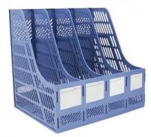 DELI 得力 9848办公桌面用品塑料文件框四联A4
