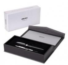 得力(deli)S672 精装盒高级钢笔/墨水笔套装(明尖+暗尖)