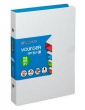 齐心(COMIX)A5307 央格系列便携式名片册120枚(60袋)