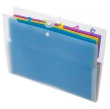 齐心(COMIX)A556 A4/6格彩色时尚风琴包