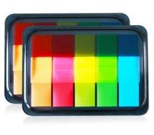 得力(deli)9069荧光膜指示标签 半透明 2个装