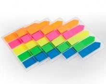 齐心(COMIX)D7015EC 荧光膜挂式指示标签(44x12mm)20张*5色 5个装