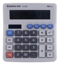 齐心(COMIX)C-215 12位电脑按键光电双驱动计算器灰色