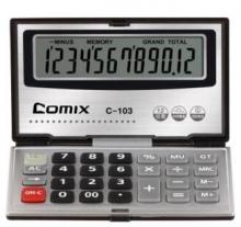 齐心(COMIX)C-103 办公便携计算器  黑色