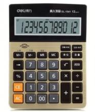 得力(deli)1541A 大屏幕12位语音型计算器 金色 185*135*39mm