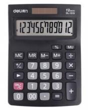 得力(deli)1519A 经典商务办公桌面太阳能双电源计算器 记忆存储功能