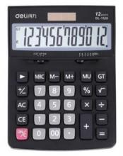 得力(deli)1520A 经典商务办公桌面太阳能双电源计算器 记忆存储功能