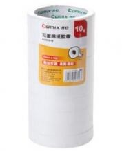 齐心(COMIX)MJ1810-10 棉纸双面胶带18mm*10y(9.1米)10卷/袋
