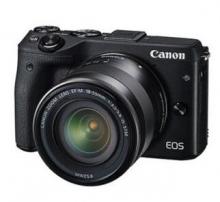佳能(Canon)EOS M3(EF-M 18-55mm f/3.5-5.6 IS STM)微型单电套机 黑色