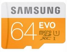 三星(SAMSUNG)64GB UHS-1 Class10 TF(Micro SD)存储卡(读速48Mb/s)升级版