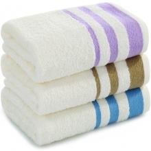 三利 毛巾家纺 初色素缎纯棉毛巾