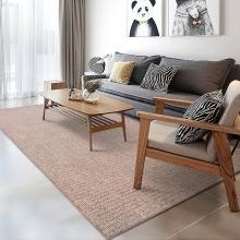 富居(FOOJO)圈绒客厅卧室地毯 驼色