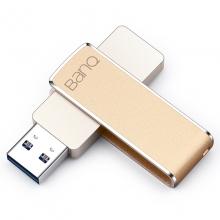banq F50 256GB USB3.0全金属360度旋转高速车载U盘 土豪金