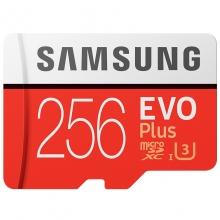 三星(SAMSUNG)存储卡256GB 读速100MB/s UHS-3 Class10 高速TF卡 红色