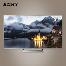 索尼 KD-55X9000E 55英寸4K HDR 精锐光控Pro 安卓6.0智能液晶电视(银色)