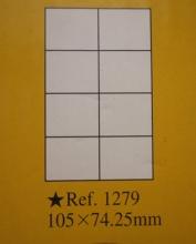 泰昌 1279 A4电脑打印标签纸 8格 105mm*74.25mm 100盒/盒