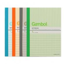 渡边(Gambol) G5307/5303 A5 30页无线胶装笔记本 图案随机 12本/包